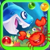 Mr Crab Vs Hungry Shark Crush 2 : Bubble Shooter World