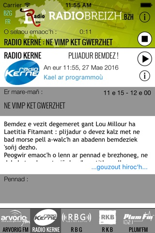 iBZH - RadioBreizh screenshot 2