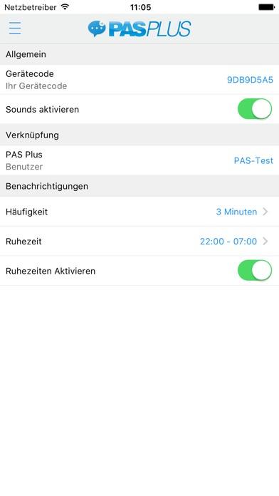 PAS Notify Screenshot