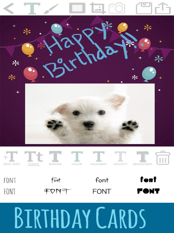 Create birthday cards edit and design postcards on the App Store – Birthday Cards for Ipad