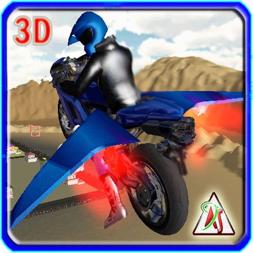 Flying Bike 2016 – Moto Racer Driving Adventure with Air Plane Controls iOS App