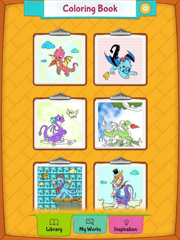 Игра Игры Раскраски Драконы для Детей