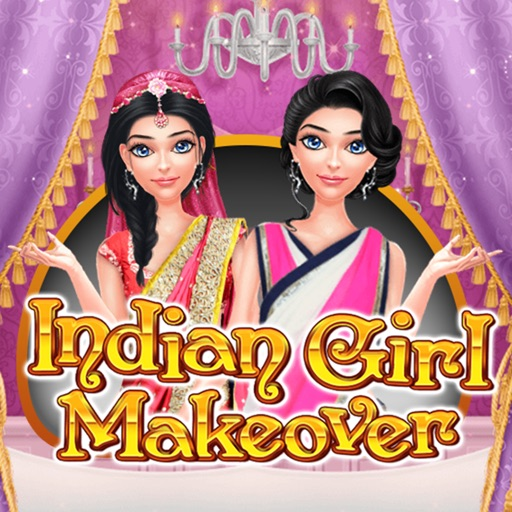 Indian girl makeover - trendy style - wedding look iOS App