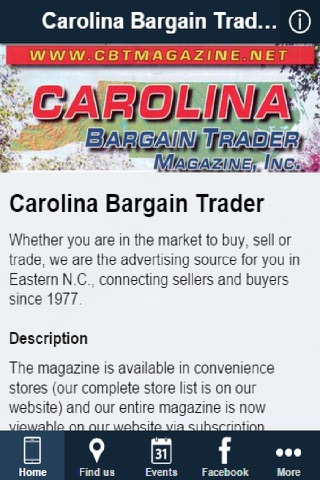 Carolina Bargain Trader Magazine screenshot 1