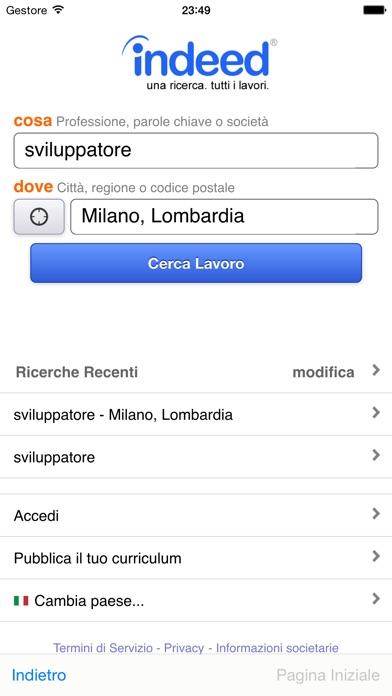 Indeed Lavoro Screenshot