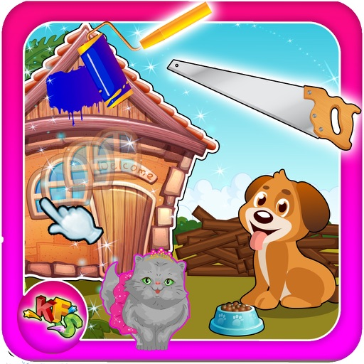 Build a Pet House – Design & decorate the animal home in this kid's game iOS App