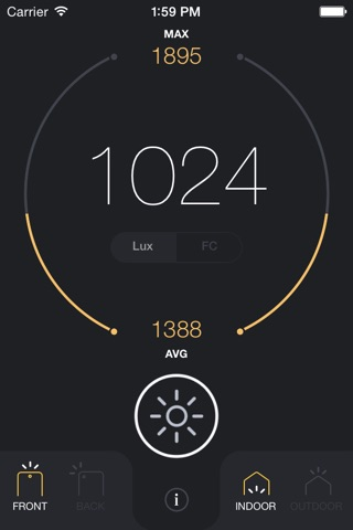 Light Meter - lux and foot candle measurement tool screenshot 2
