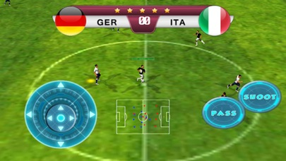 Screenshots of Best pro speed real soccer 2016 game - Top new free football games Euro Germany VS Italy edition for iPhone