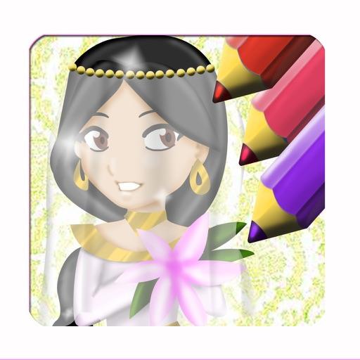 Princess Wedding Dress Coloring - Magical Makeover Book iOS App