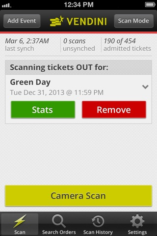 Vendini TicketScan screenshot 2