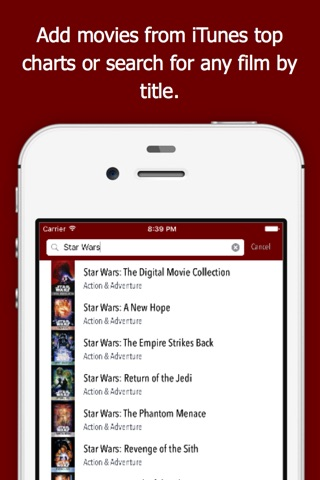 moviElect - Decide Which iTunes Movie or Rental to Watch for TV & Mobile screenshot 3