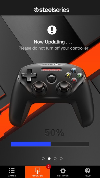 SteelSeries Nimbus Companion App Screenshot