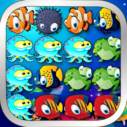 Ocean Splash - 3 Matching Puzzle Game Set Under the Sea iOS App