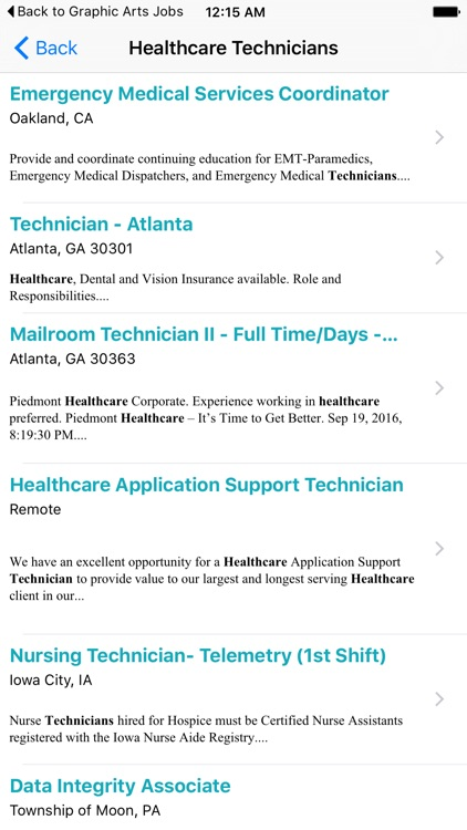Healthcare Technicians Jobs - Search Engine by Dimitar