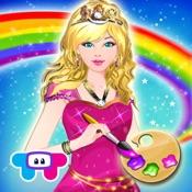 princess coloring book draw paint color games