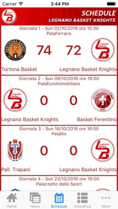 Screenshot of Legnano Basket Knights App3