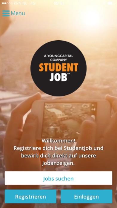 Screenshot von StudentJob1