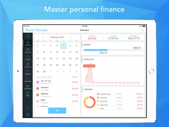 Pocket Expense Pro - Personal Finance Assistant on the App Store
