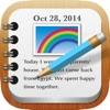 RainbowNote: notebook/diary with photo calendar