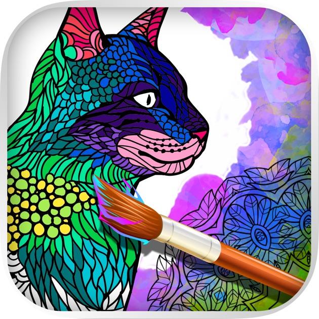 Gatti Mandala Libro Da Colorare Per Adulti Sull App Store