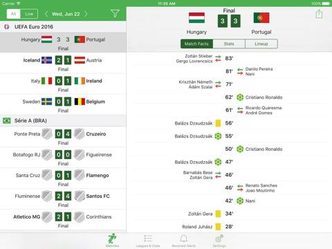 Soccer Scores & Alerts screenshot 1