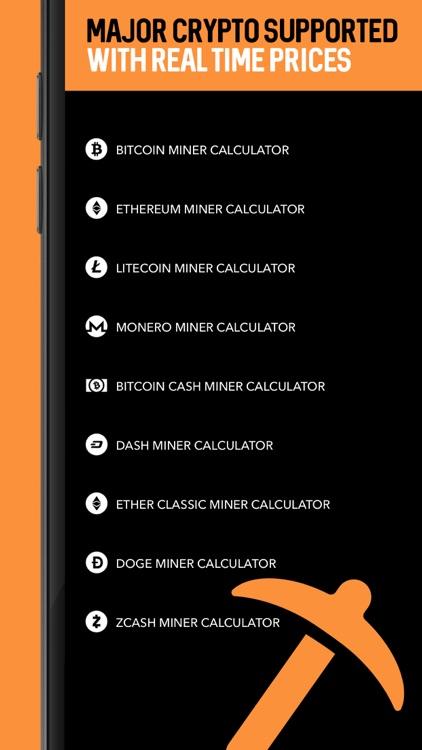 Bitcoin Miner Calculator App by Yes Man Enterprises, Inc