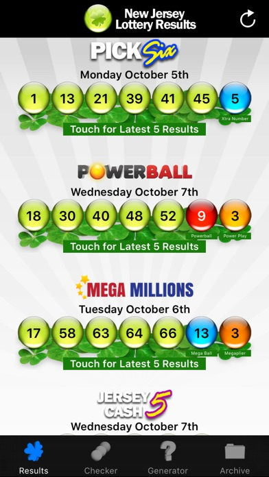 Nj Lottery Numbers