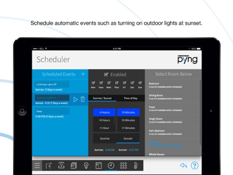 Crestron Pyng for iPad screenshot 4