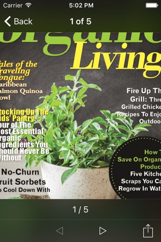 Organic Living Magazine screenshot 2