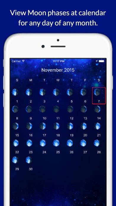 Moon Phases Calendar Screenshots