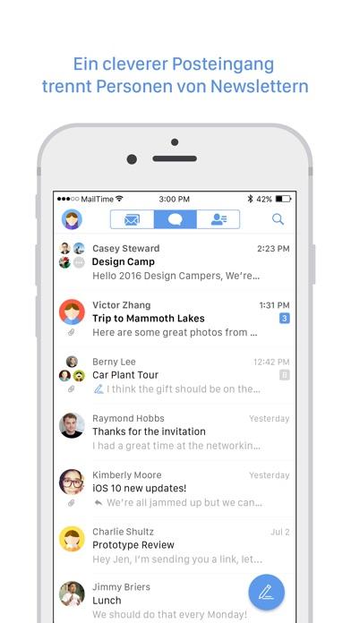 Screenshot von MailTime2