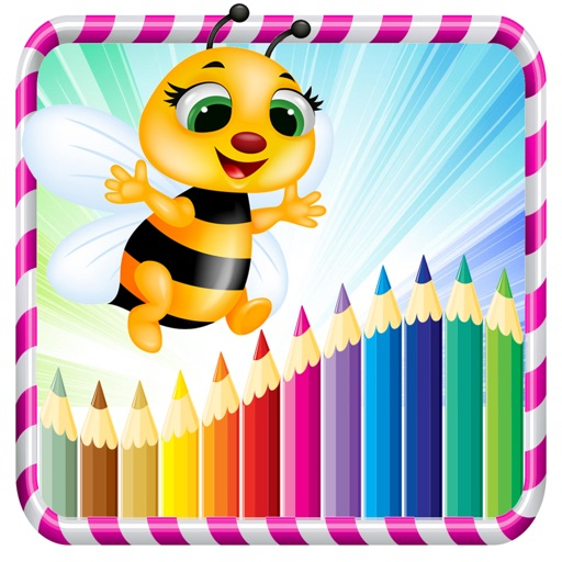 Animals Coloring Books - dog cat princess and flower drawing painting games for kids iOS App