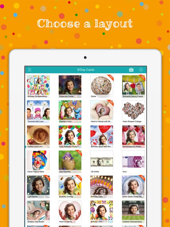 Birthday Cards Free happy birthday photo frame gift cards – Birthday Cards for Ipad