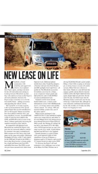 SA4X4 Magazine screenshot1