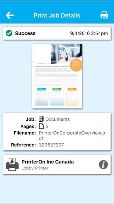 PrinterOn for MobileIron Скриншоты7