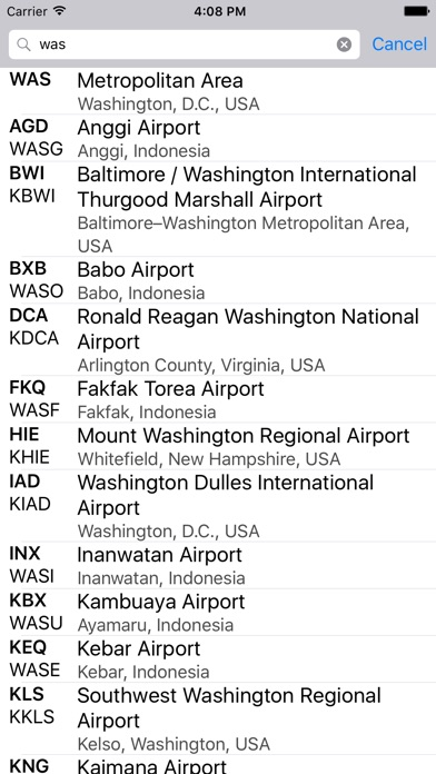Airport codes on the app store iphone screenshot 2 sciox Image collections