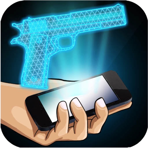Hologram Gun 3D Simulator iOS App