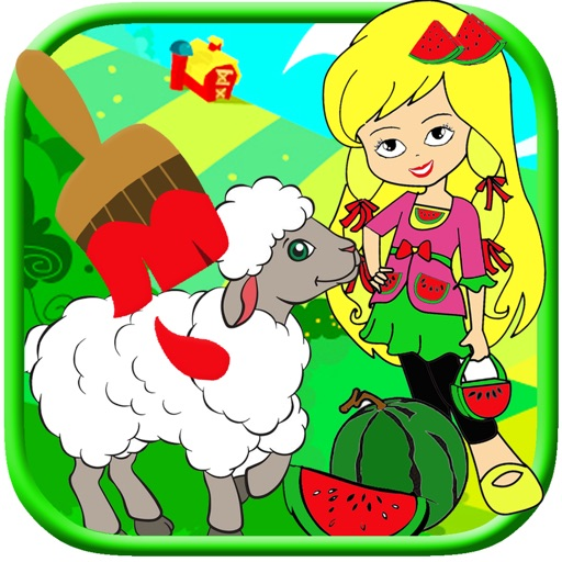 Kids Shop Cake And Farm Coloring Book Paint Game iOS App