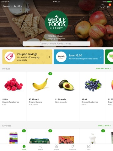 Instacart screenshot 1