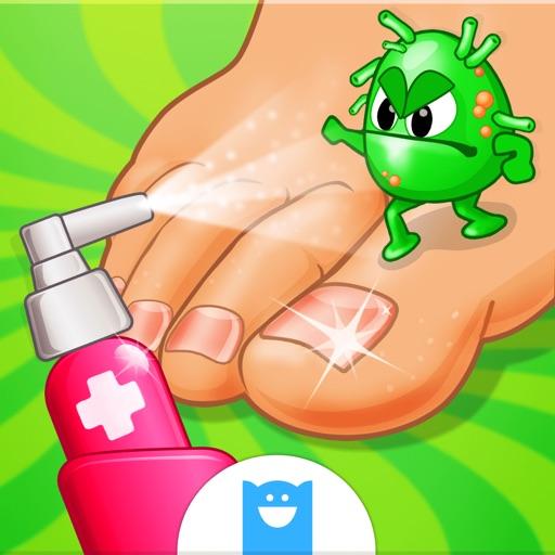 Crazy Foot Doctor-クレイジーフットドクター -子供向け病院ゲーム (No Ads)