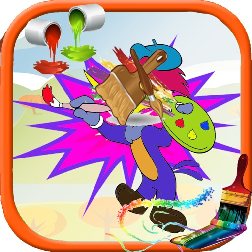 Coloring Page For Kids Game Woody Wood Version iOS App