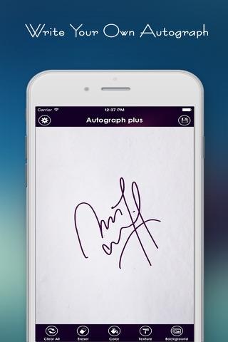 Autograph + screenshot 1