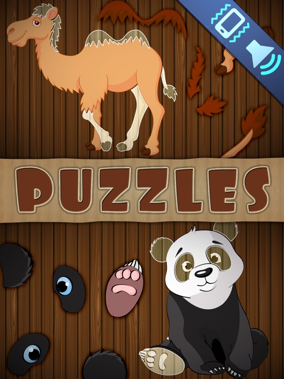 Screenshots of Animal Puzzles Games: Kids & Toddlers free puzzle for iPad