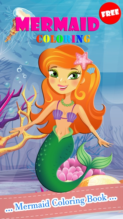 Mermaid Coloring Book Paint Games Free For Kids 2 by Punika ...
