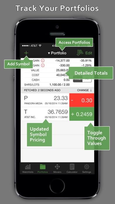 StockWatch - Portfolio Tracking & Stock Quotes Screenshot
