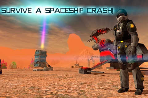 Mars Survival 3D: Cosmic Crash screenshot 1