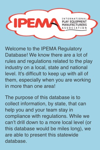 IPEMA Regulatory Information screenshot 1