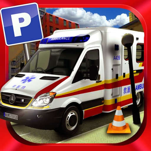 Ambulance Driving Test Emergency Parking - City Hospital First Aid Vehicle Simulator iOS App