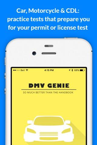 DMV Genie Permit Practice Test screenshot 1