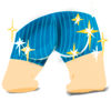 Super Pants Stickers